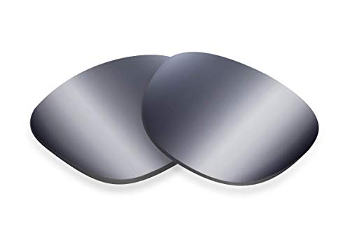 SFx Replacement Sunglass Lenses Compatible for Electric Mainstay 54mm (Non-Polarized Extrm Slv Mirror DrkBlck Pair-SFxEdge)
