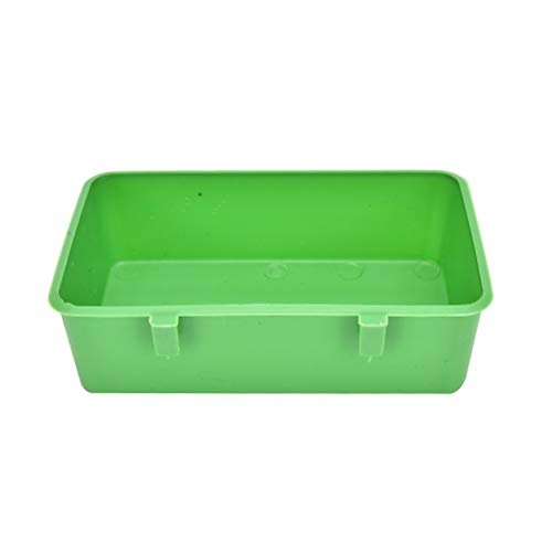 HDDFG 2021 1 Pieza de plástico Loro pájaro bañera bañera Caja Limpia alimentación Comida Agua Caja Mascota Juguete Acceso