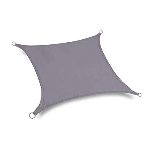 NNA Refugio Impermeable para el Sol Protección de la sombrilla Toldo al Aire Libre Jardín Patio Sombra de la Piscina Toldo de Vela Sombra de Camping - Gris Plateado - 2x3m