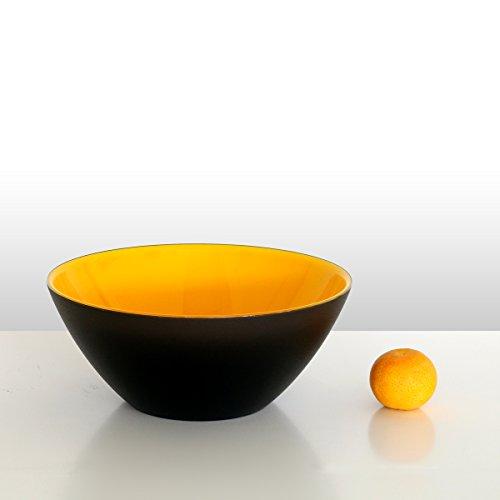guzzini Schale MY FUSION mandarine-schwarz, D ca. 20 cm   FG-2814.20-168   8008392283355