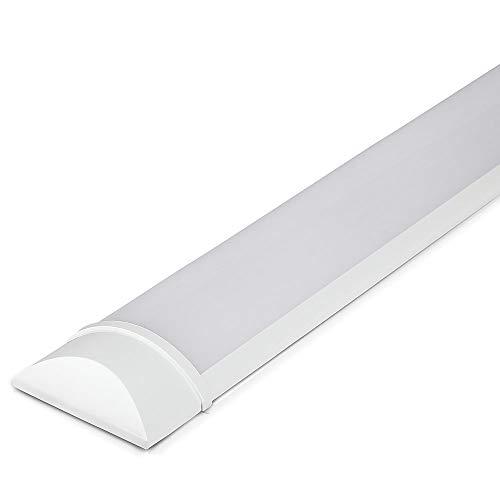 V-TAC VT-8-20 20W 2ft LED-Lichtleisten Integrierte Röhrenlampe 6400K Tageslichtweiß 600x74x24mm Wand-und Deckenbeleuchtung 30000h Lange Lebensdauer, Plastic, 20 W, Wei