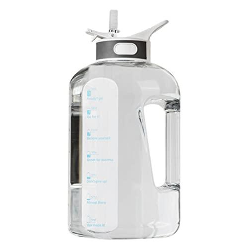Overvloedi Deportes botella de agua 1500ml 2500ml paja al aire libre deportes botella de agua botellas beber senderismo Camping botella de plástico tritan BPA libre PETGwarmwater