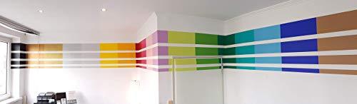 2,5 m Aufkleber Wandtattoo Streifen Band Linie Balken Dekoration Design