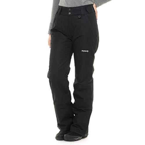 SkiGear Women's Insulated Snow Pants, Black, X-Large (16-18) Regular