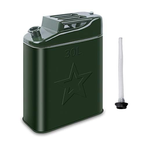 Bidón para combustible Gruesa de metal Combustible Diesel Gasolina barril Tanque de almacenamiento de coches Pequeño Barco de la motocicleta de repuesto de emergencia del tanque de combustible verde B
