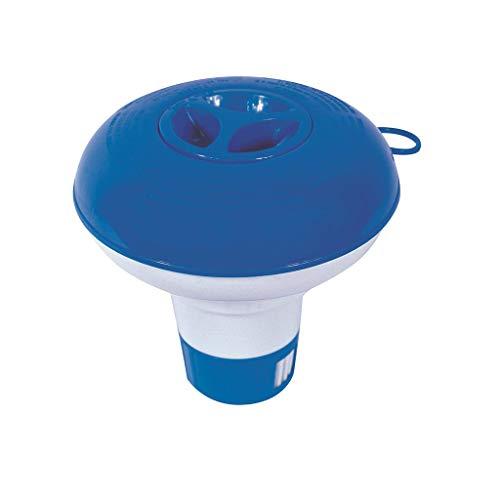 Hukz Chlor Dosierschwimmer Profi, Small Floating Chlorine Dispenser Pool Chemical Dispenser, Chlordosierer Chlorspender Chlortabletten Behälter für Große und Kleine Pools (Blau)