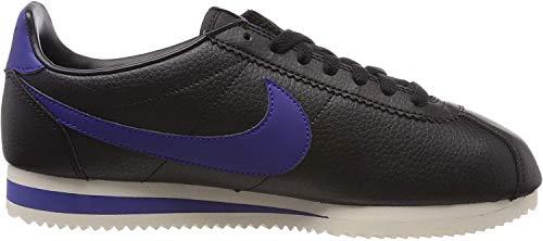 Nike Herren Classic Cortez Leather Laufschuhe, Mehrfarbig (Black/Deep Royal Blue-Light Cream 003), 44.5 EU