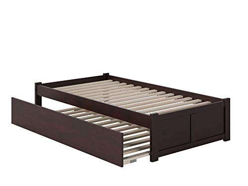 Atlantic Furniture AR8022011 Concord Flat Panel Foot Board With Urban Trundle Bed, Twin, Espresso