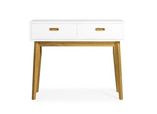 Tenzo 2160-001 Bess Designer toilettafel, hout, wit/eiken, 35 x 82 x 98 cm