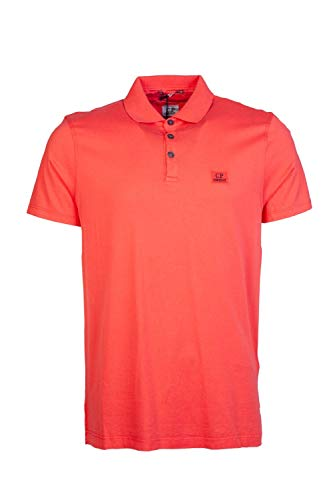 C.P. Company Mens Short Sleeve Polo Shirt MPL252A 000444G Size XL Orange
