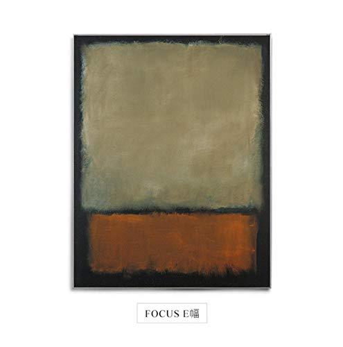 YTHK Berühmte Mark Rothko Fokus Leinwand Malerei Plakate Drucken Farbblock Modernes Dekor Wandkunst Bilder für Wohnzimmer Schlafzimmer Gang A, 80X100CM