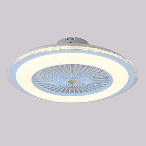 Luz de ventilador de techo LED, luz moderna de ventilador con atenuación, luz de techo 36W con control remoto, controlador de velocidad de 3 velocidades de control de velocidad de 3 velocidades sala d