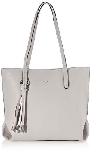 TOM TAILOR Shopper Damen, Grau, Lucca, 37x14x28 cm, Handtasche groß, Umhängetasche
