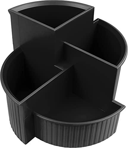helit Multiköcher Linear, 4 Fächer, schwarz