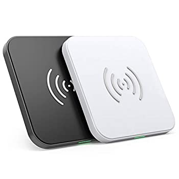 CHOETECH Wireless Charger [2 Pack] 10W Max Qi-Certified Fast Wireless Charging Pad Compatible with iPhone SE 2020/11/11 Pro Max/XS Max/XS/X Galaxy S20/Note 10/S10/S9 AirPods Pro No AC Adapter