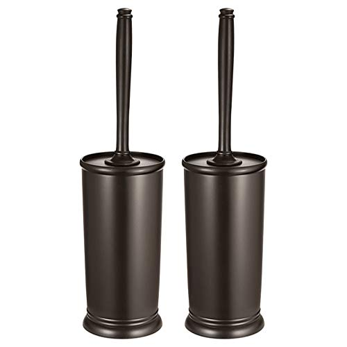 Homemaxs Toilet Brush and Holder 2 Pack 【2021 Upgraded】 Deep Cleaning Toilet Bowl Brush Set Ergonomic, Sturdy Bathroom Accessories Plastic