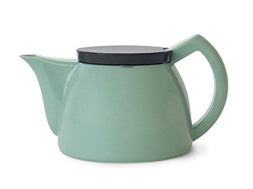 Sowden Porzellan-Krug und SoftBrew-Teefilter aus Edelstahl mit Deckel aus PC, 1 Liter