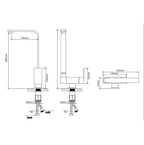 SJQKA- grifos cocina abatibles para ventana 9871164725921