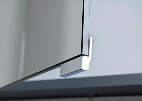 Intarbad ~ Spiegelschrank Griff Chrom für Doppelspiegeltüren, Optionales Zubehör (3 Stück)