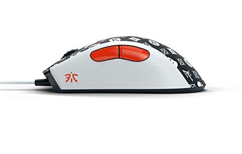 Fnatic Clutch 2 Pro Gaming E-Sports Maus (Pixart optischer Sensor mit 12.000 CPI, 6 Tasten, mechanische Mausswitches, Multi-Color RGB hintergrundbeleuchtet, rechtshändig) – Schwarz