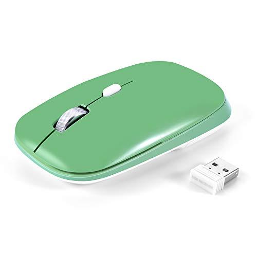 PINKCAT Kabellose Maus, 2.4G Funkmaus mit USB Nano Empfänger, 800/1200/1600 DPI, Ergonomische Leiser Laptop Maus für Windows/Mac/Linux/Office/Home