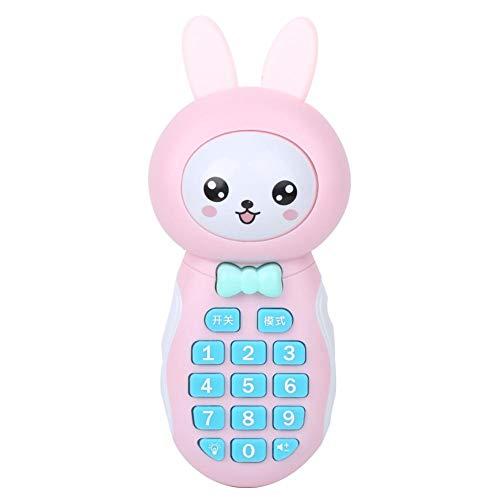 Simulación de juguetes para teléfonos electrónicos, dibujos animados para niños Juguetes para teléfonos móviles Historia Juguetes educativos de aprendizaje Modelo de teléfono celular con (Rosado)