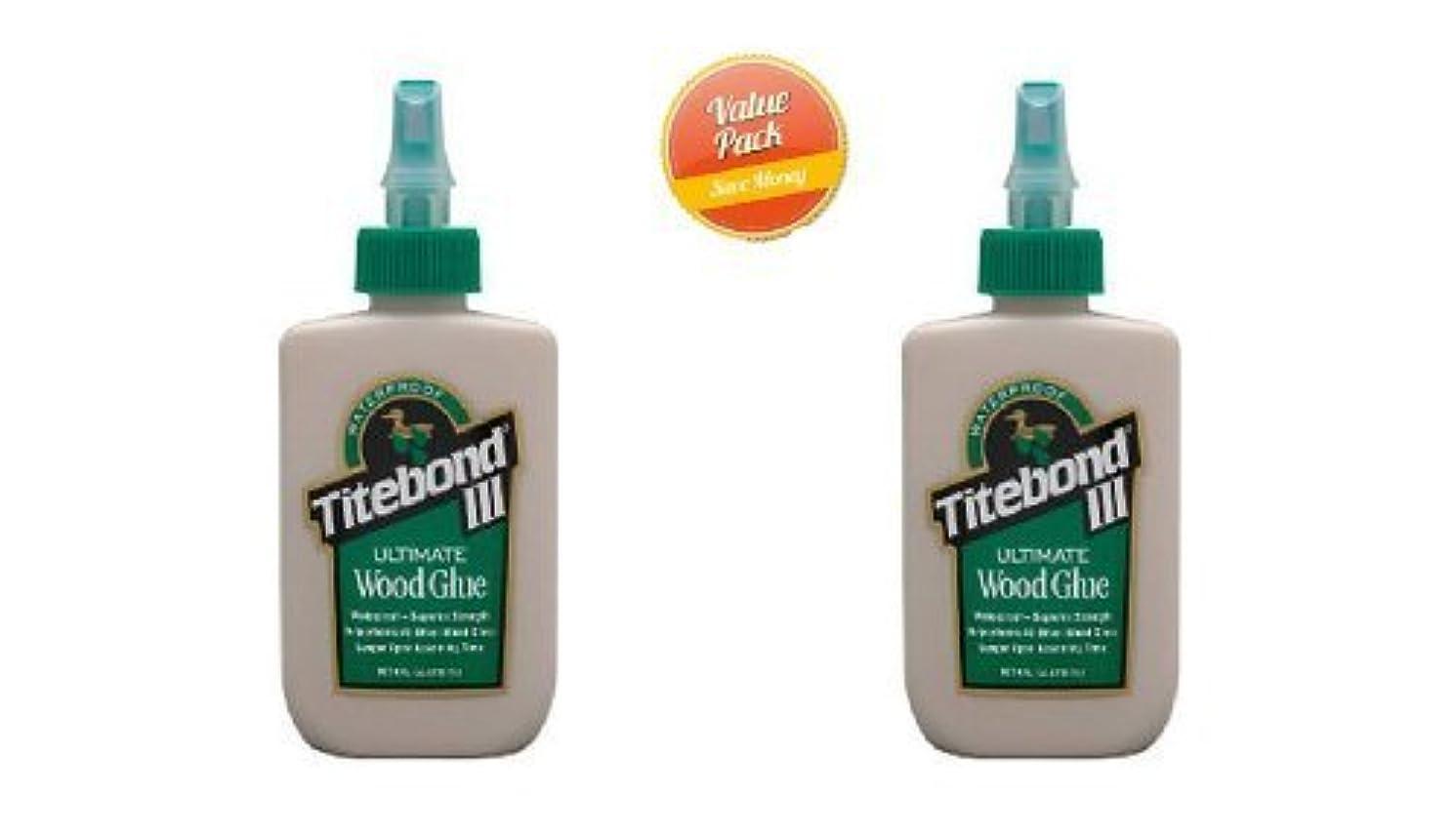 Waterproof Titebond III Wood Glue (Pack of 2) by Franklin International