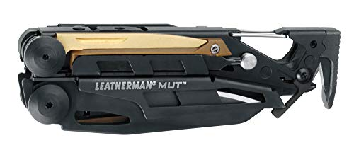 LEATHERMAN - MUT Multitool with Premium Replaceable Wire Cutters and Firearm Tools, Black with MOLLE Black Sheath