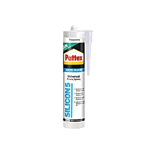 31UIADyG21L. SS300  - Pattex Silicona Ácida universal transparente ideal aluminio y vidrio, 280ml