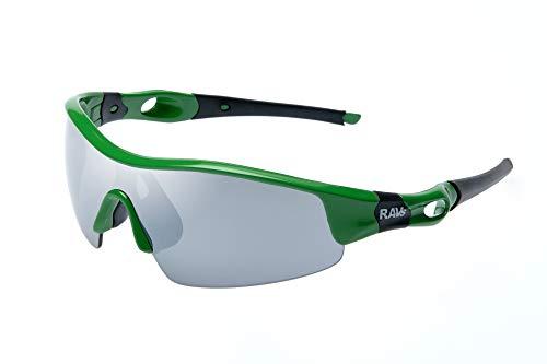 Ravs Gafas de ciclismo, gafas de ciclismo, gafas de sol, gafas deportivas, gafas para gravelbike (cristal verde gris)