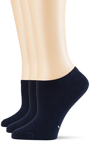 POMPEA Cotton Calzini alla Caviglia, Blu (Blu 0070), (Taglia Produttore:39/42) (Pacco da 3) Donna