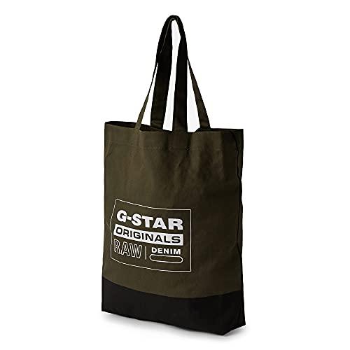 G-STAR RAW Canvas Shopper, Borsa Uomo, Combat 9921-723, Taglia Unica