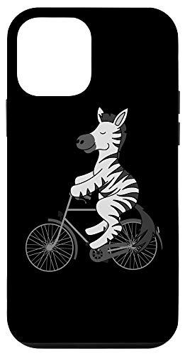 iPhone 12 mini Zebra On Bike | Black White Stripe Biking Funny Gift Case