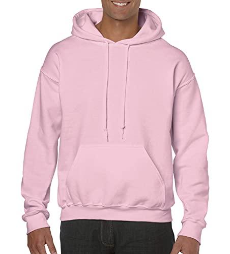 felpa uomo rosa con cappuccio Gildan G185 - Felpa pesante con cappuccio