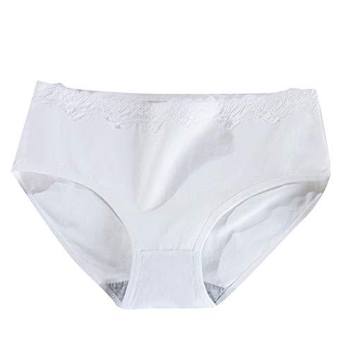 FRAUIT Slip Donna Brasiliana Cotone Mutande Ragazza Vita Media Invisibili Culotte Pizzo Perizoma Donna Invisibile Sexy Hot Underwear Biancheria Intima Push Up