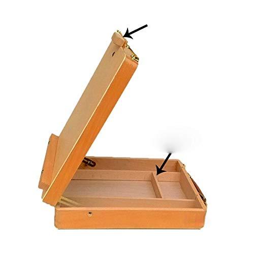 Schildersezel Desktop Beuken houten olieverf lijst Sketch schildersezel Houten Desktop Shelf Schilderkunst Gereedschap Portable Storage Box Eenvoudig in te Stellen en te Gebruiken
