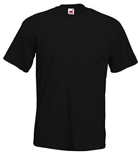 Fruit of the Loom Herren T-Shirt im 5er Pack Größe 5XL Farbe Schwarz