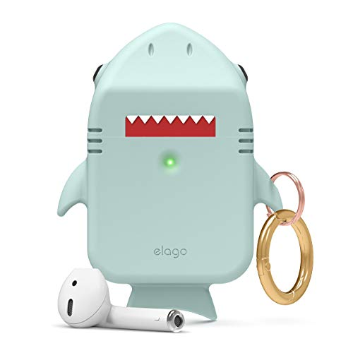 elago Shark AirPods Case - Cute 3D Design AirPods Case Compatible with Apple AirPods 2, 1