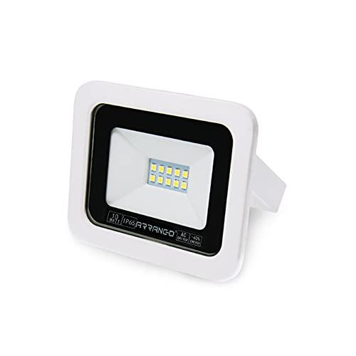 AOMEX Faretti LED da esterno da 10W alta luminosità Faro led Impermeabile IP65 per Giardino Cortile Lampada a Risparmio Energetico Illuminazione per Esterno/Interno (Bianco Caldo/3200k, 10W)