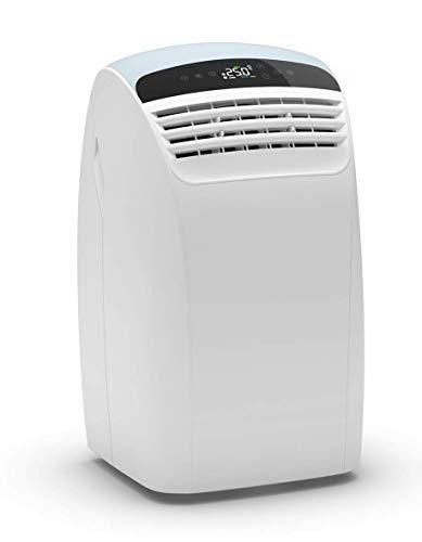 Olimpia Splendid Mobiles Klimagerät mit Wärmepumpe, 01922 Dolceclima 1 2 HP P, Heizen und Kühlen. Entfeuchtung und Timer-Funktion, 12.000 BTU/h, 2,7 kW, Gas R290, Italienisches design