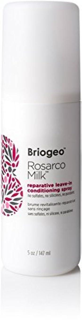 会議肘立場Briogeo Rosarco Milk Reparative Leave In Conditioning Spray - 5oz [並行輸入品]