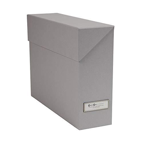Bigso Lovisa Fiberboard Label Frame 12 File Storage Box 94 x 37 x 13 in Grey