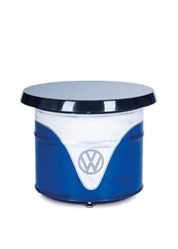 BRISA VW Collection Volkswagen T1 Bulli Bus Ölfass-Tisch in Vintage-Optik - weiß/blau