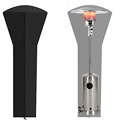 """ANLECO Patio Heater Cover Waterproof with Zipper, Standup Outdoor Round Heater Covers 89'' H x 33"""" D x 19"""" B"""