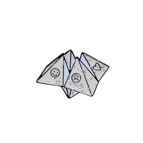 Bonito broche de dibujos animados con insignia, alfileres de esmalte, bolígrafo, sobre de libro, ropa de avión, alfiler de solapa, joyería para mujeres, hombres, decoración, regalo para chico-Origami