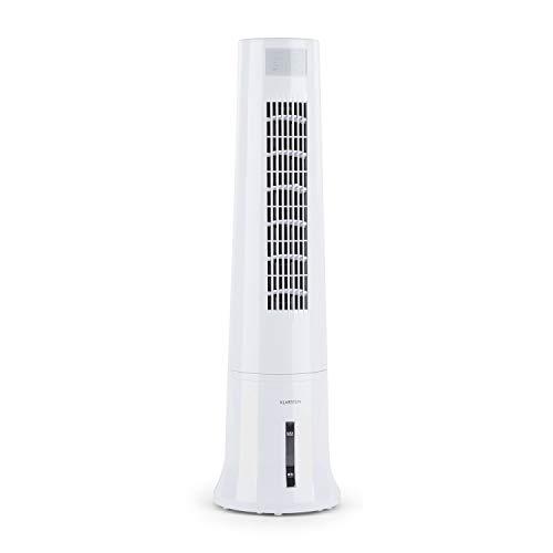 KLARSTEIN Highrise Ice Line - Rafraîchisseur d'air, Ventilateur, Fonctions Nettoyage d'air, Humidificateur, 3 Niveaux de Puissance, 3 Modes, Lamelles réglables, Filtre d'air, Blanc Polaire