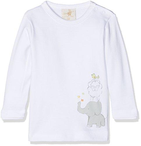 DIMO-TEX DIMO-TEX Unisex Baby Langarmshirt Basic Top, Mehrfarbig (Weiß, FP 1), 62