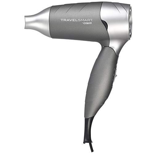 Travel Smart by Conair 1200 Watt Silver Folding Hair Dryer; Dual Voltage