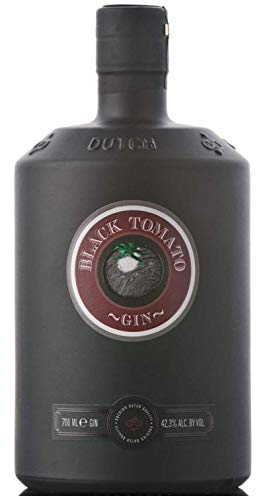 Black Tomato Gin - Distilled Spirit with Fresh Salt & Oosterschelde Water, Product of Netherlands, 42.3% vol. 70cl