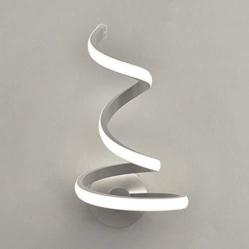 Lámpara de pared LED en espiral moderna,